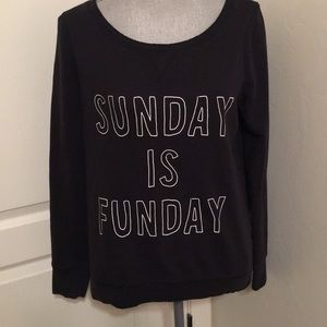 "Aeropostale ""Sunday is Funday"" long sleeve tee MED"